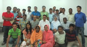 Group photo of Barisal participants