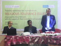 Training workshop for Journalists on religious tolerance issues in Sherpur
