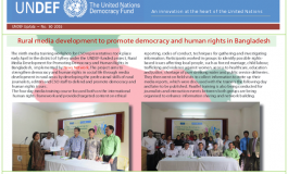 The United Nations Democracy Fund highlights News Network's activities