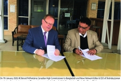 Agreement Signing Ceremony between High Commission of Canada and News Network 2020