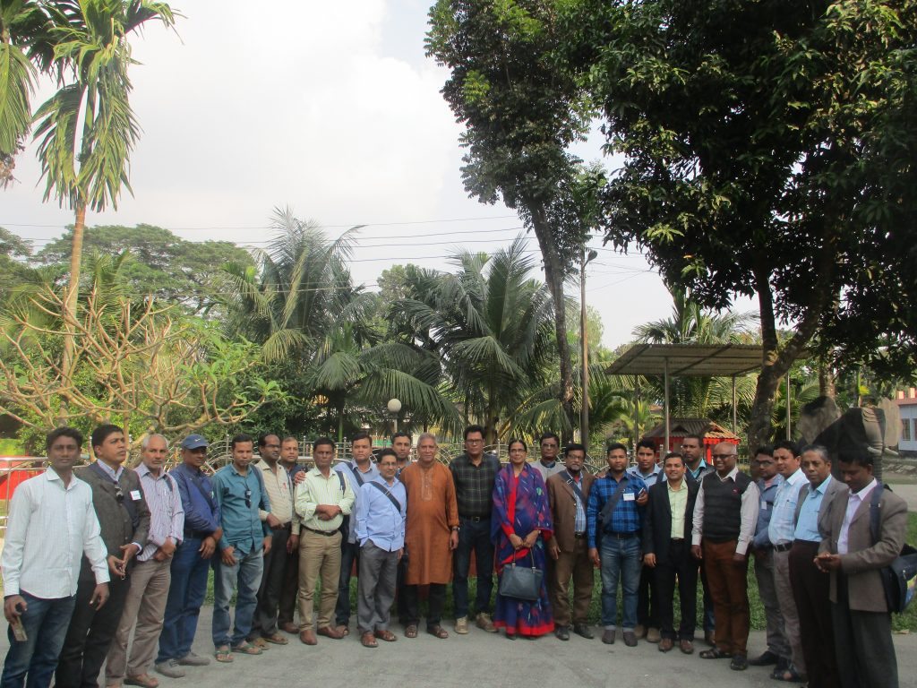 A group of Journalists participated in risk analysis and security planning training, guest and trainers seen in Kurigram