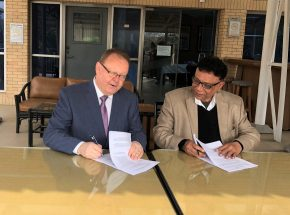 On 7th January 2020, HE Benoit Préfontaine, Canadian High Commissioner to Bangladesh and News Network Editor & CEO of Shahiduzzaman are signing the project agreement. The event was organised at Canada High Commission office in Baridhara, Dhaka